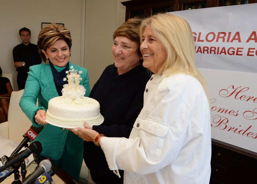 Gloria Allred, Robin Tyler and Diane Olson