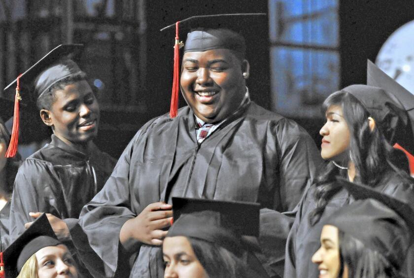 Jeremy Johnson receives diploma