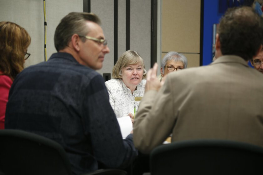 Executive director Diane Crosier at a recent meeting of the San Diego County Schools Risk Management Joint Powers Authority.