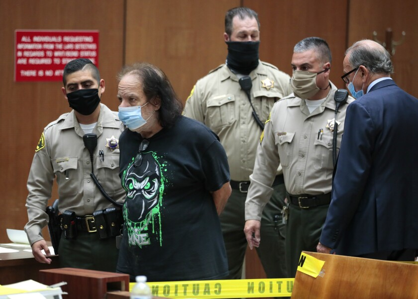 Ron Jeremy appears in court June 23.