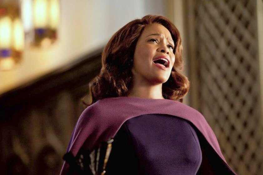 """The late Whitney Houston in a scene from """"Sparkle."""""""