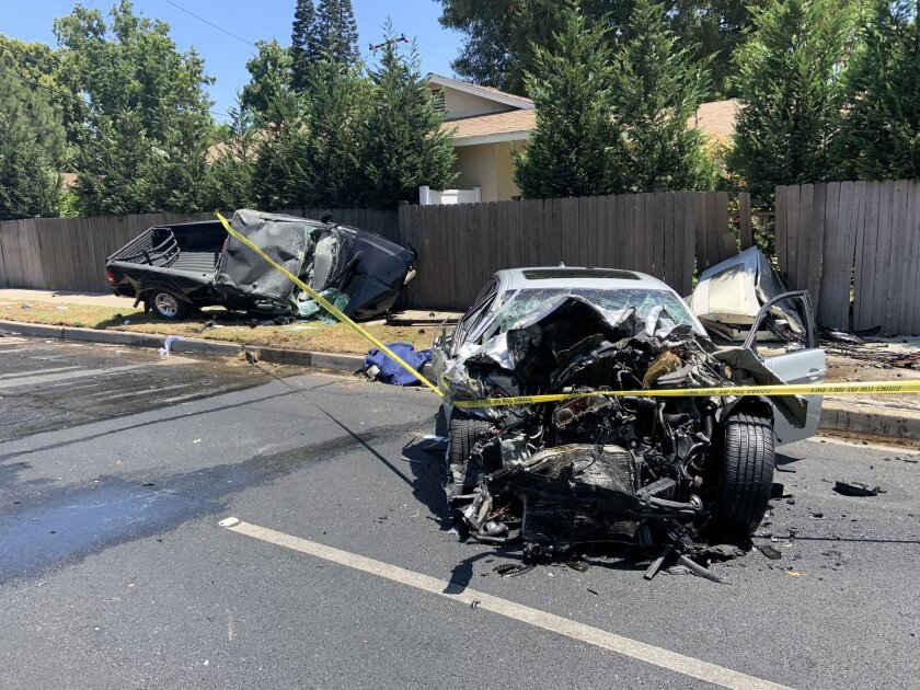 Orange County Register editor Eugene Harbrecht was killed in a street racing crash on Thursday afternoon.