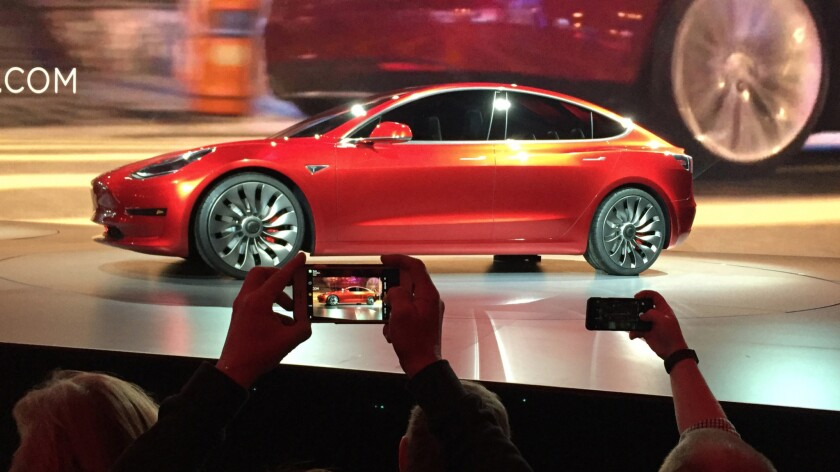 The Tesla Model 3 at its unveiling March 31: Still a mirage?