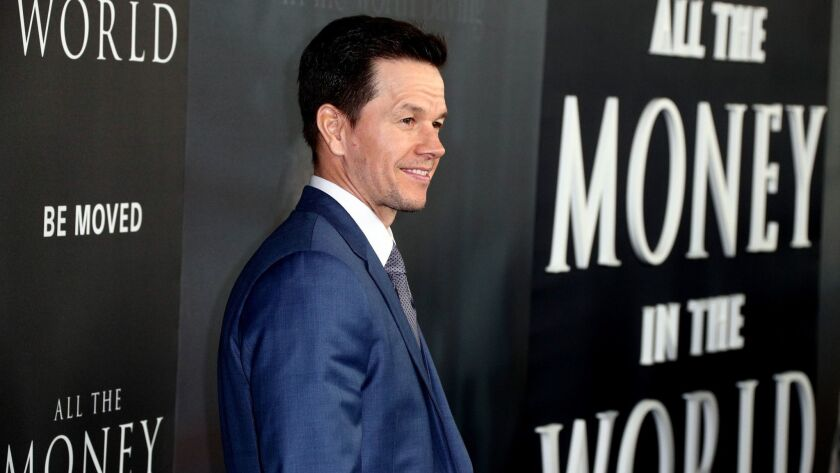 """Mark Wahlberg attends the premiere of """"All The Money In The World"""" in Beverly Hills on Dec. 18 ."""