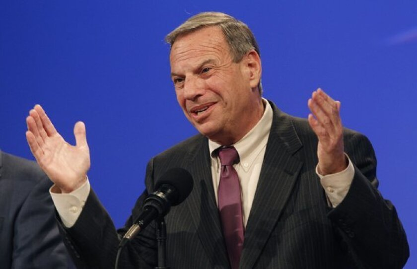 Mayor Bob Filner during last year's election. He is now ensnared in a sexual harassment scandal.