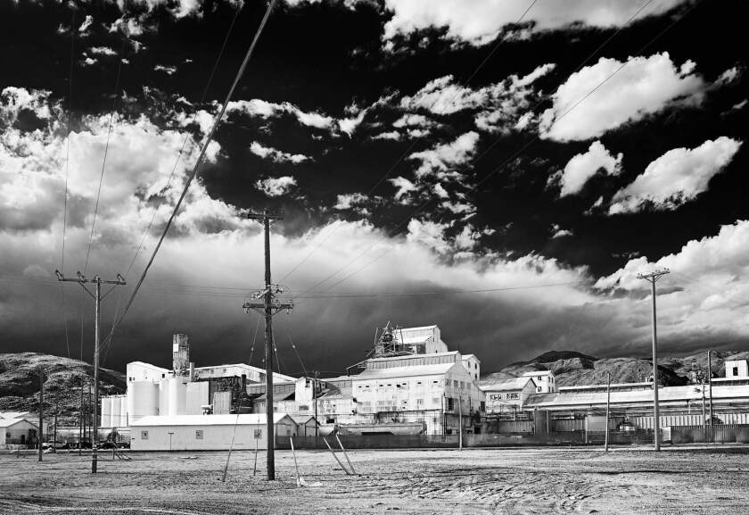 """Searles Valley Mineral Plant — Infrared Exposure, Trona, Ca.,"" 2010, by Osceola Refetoff at the Lancaster Museum of Art and History."