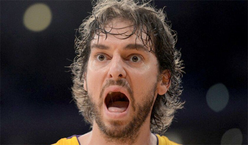 Pau Gasol, who's been sidelined with knee tendinitis, says he's not worried about a recurrence.
