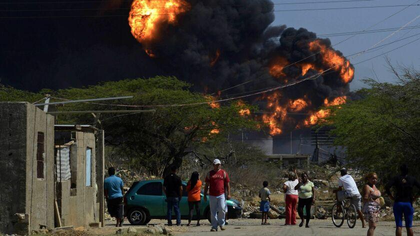 VENEZUELA-OIL-ACCIDENT-REFINERY-BLAST