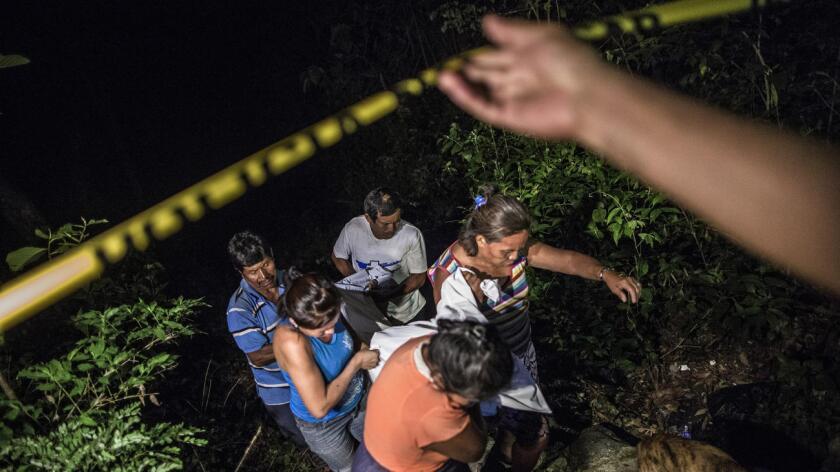 Foto de archivo de la violencia en El Salvador.