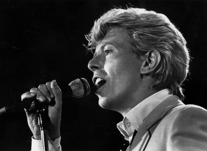 David Bowie performs at the US Festival in Devore, Calif., on May 31, 1983.