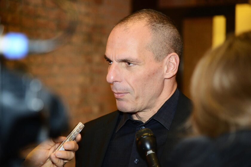 Greek Finance Minister Yanis Varoufakis in Venice