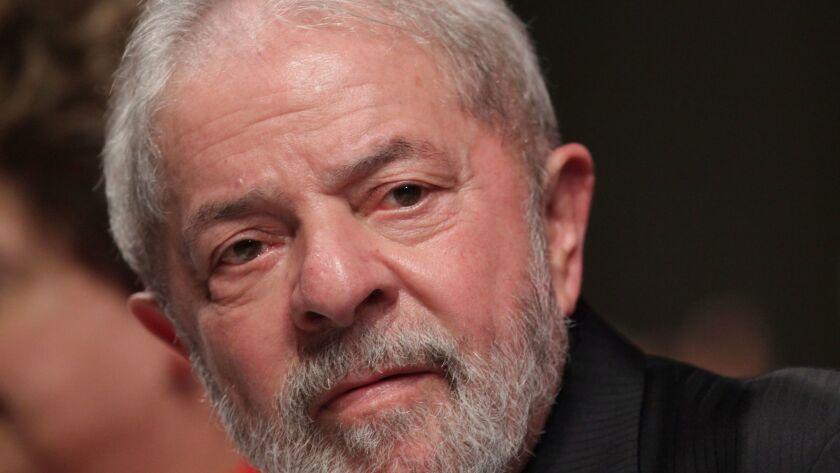 Brazil's former president, Luiz Inacio Lula da Silva, was sentenced to 9 1/2 years in prison.