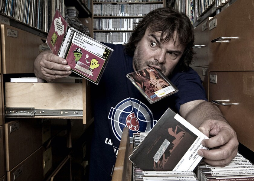 "Many artists, including Jack Black, have visited the KCRW ""creative dungeon,"" as the basement office"