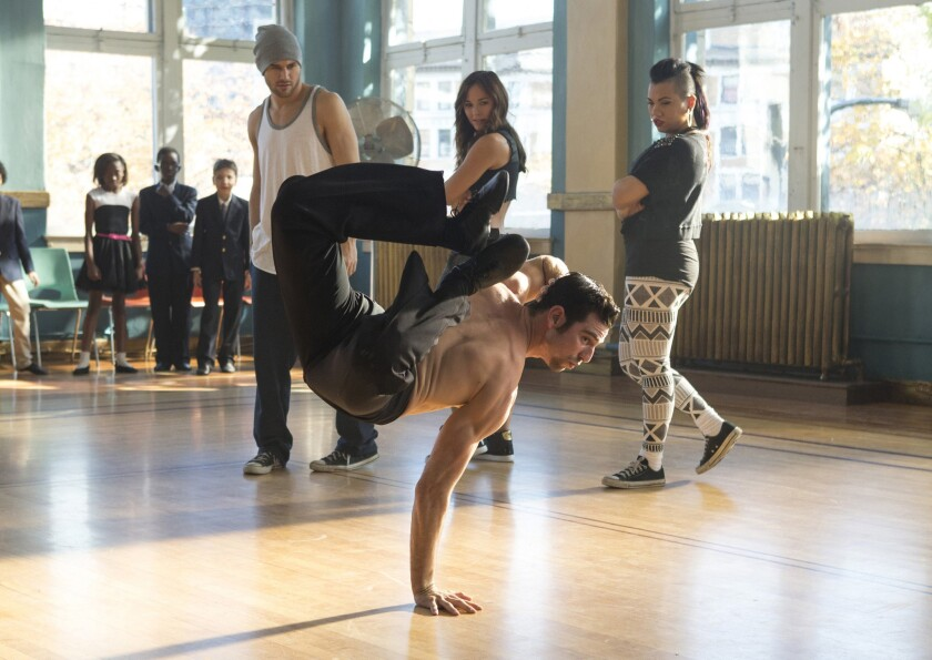 """Ryan Guzman, clockwise from left, Briana Evigan, Parris Goebel and David Shreibman star in """"Step Up All In."""""""