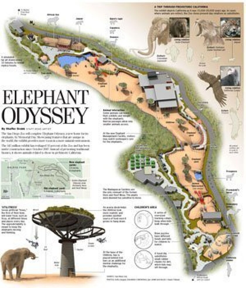 "<strong><a href=""http://www.signonsandiego.com/news/metro/images/090125elephant.pdf"" target=""_blank"">Inside the Odyssey: New habitat will be a modern-day twist on California of old. (PDF)</a></strong>"