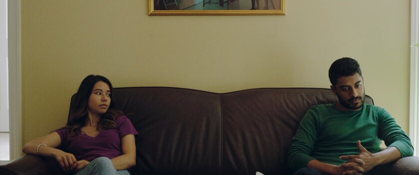 """Sujata Day (left) and Ritesh Rajan star in """"Definition Please"""""""