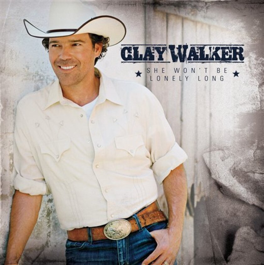 "In this CD cover image released by Curb Records, Clay Walker's ""She Won't Be Lonely Long,"" is shown. (AP Photo/Curb Records)"