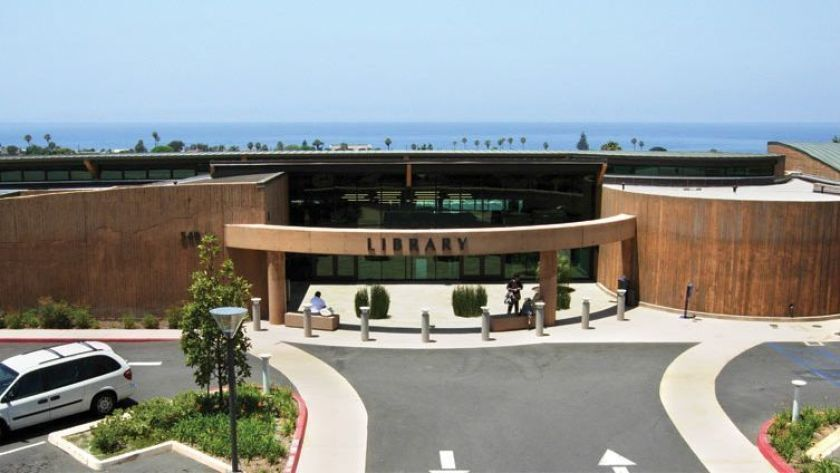 The Encinitas Library is among the 33 County Library branches that is currently offering walk-up door-side service.