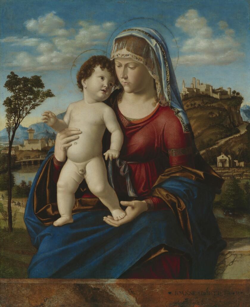 """Cima da Conegliano, """"Madonna and Child in a Landscape,"""" circa 1496-1499, oil on panel"""