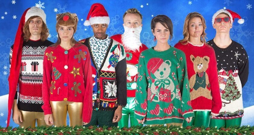 Some of the world's ugliest Christmas sweaters can be purchased at thesweaterstore.com