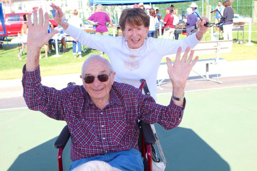 Kiwanis Club members Stan and Phyllis Minick show their support.