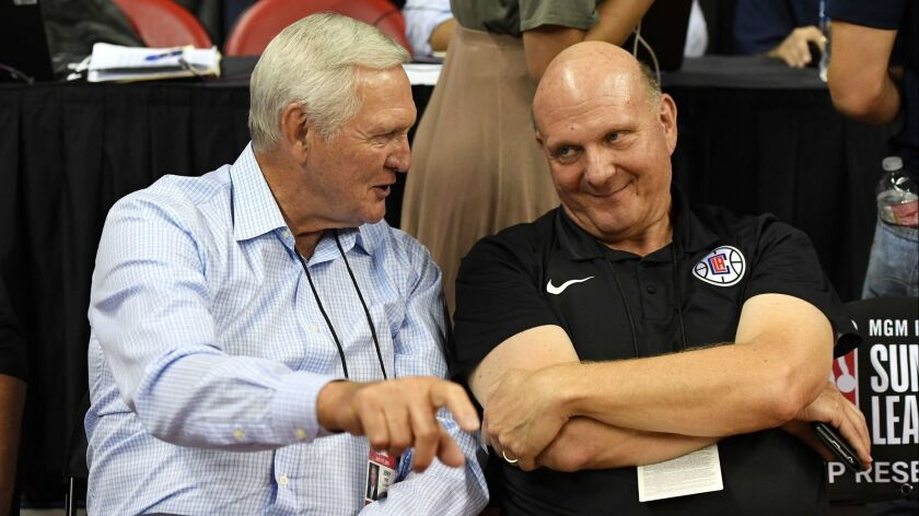 NBA legend Jerry West and owner Steve Ballmer might be familiar faces to Clippers fans, but executive Lawrence Frank, Michael Winger, Trent Redden and Mark Hughes make up a big part of the front-office decisions.