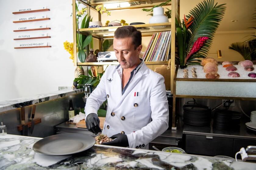 Ceviche Project owner and chef Octavio Olivas