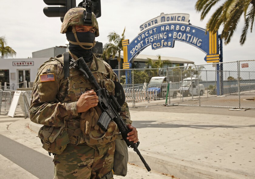 The California National Guard in Santa Monica