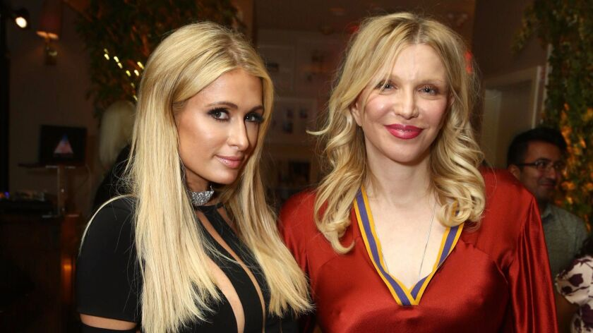 """Paris Hilton and Courtney Love hit the premiere after-party for """"The Beguiled"""" at Sunset Tower on June 12 in Los Angeles."""