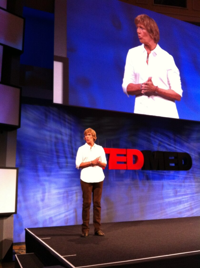Distance swimmer Diana Nyad told TEDMED attendees about her recent failed attempt to swim from Cuba to Florida.