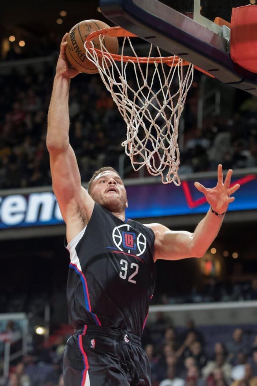 El ala-pívot de los Clippers de Los Ángeles Blake Griffin. EFE/Archivo