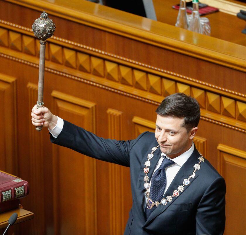 Inauguration of Ukrainian President-elect Volodymyr Zelensky., Kiev, Ukraine - 20 May 2019