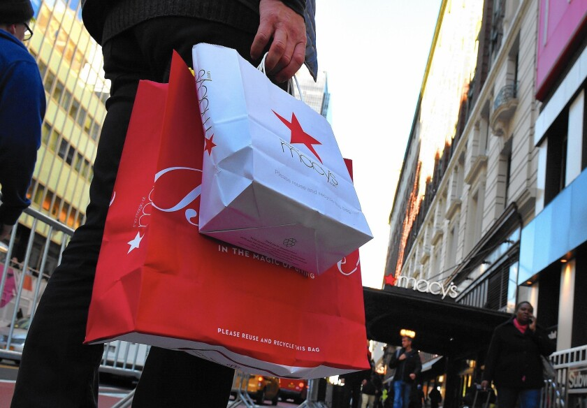 Department stores such as Macy's, Kohl's, J.C. Penney and Kmart, as well as home and kitchen specialty stores, are expected to offer discounts on small kitchen appliances during Memorial Day sales. Above, Macy's Herald Square store in midtown Manhattan.