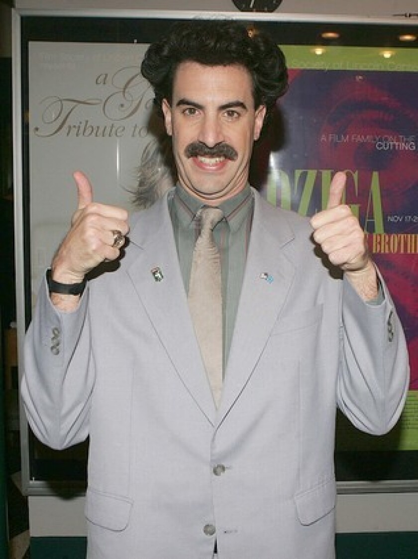 How To Join The Borat Watch Party With Sacha Baron Cohen Los Angeles Times