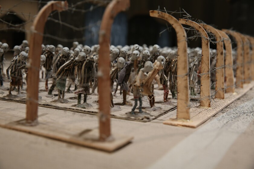 """Hotel Modern returns to REDCAT with """"KAMP,"""" a re-creation in miniature of the stark horror of Auschwitz."""