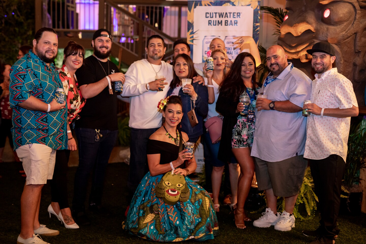 San Diegans threw on their leis and raised money for the SD Food Bank at the Cutwater Tiki Bash at Humphreys.