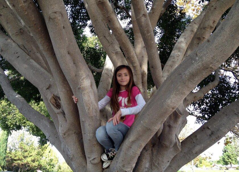 Cassandra Priebe, 11, winner of Glora Barron Prize for Young Heroes. U-T photo by Karen Kucher