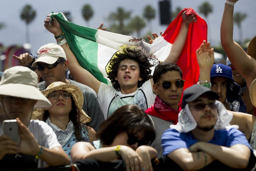 When your expectation to see your No. 1 band comes true at Coachella, like these fans who went to see The Nortec Collective, a Tijuana, Mexico band, it's a great day.