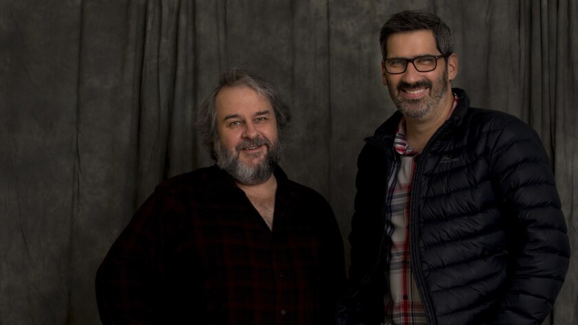 BEVERLY HILLS, CA DECEMBER 8, 2018: Portrait of Peter Jackson, left, and Christian Rivers, right,