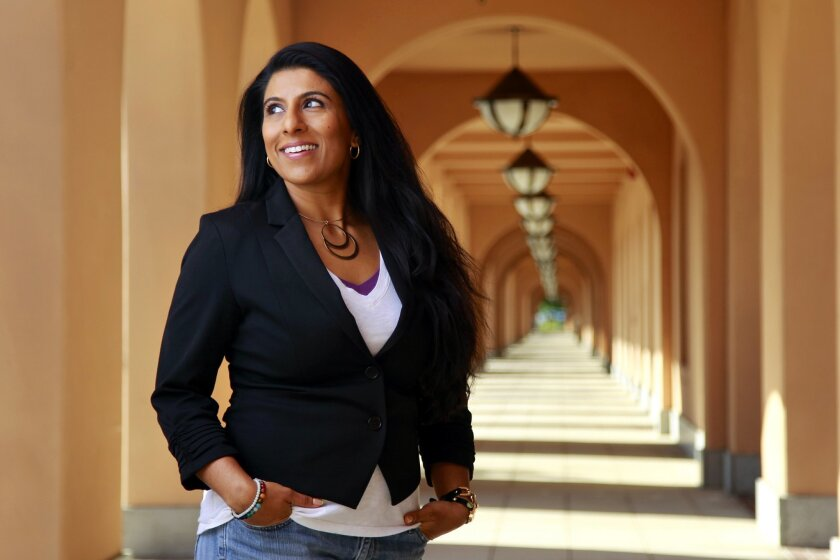 Priti Gandhi, who will become the San Diego Opera's artistic administrator, photographed at Liberty Station.