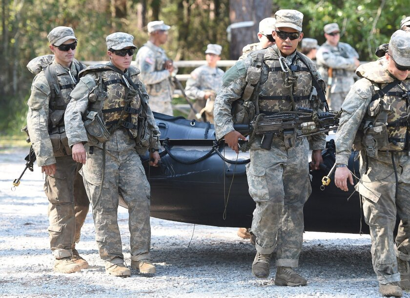 Army Rangers students