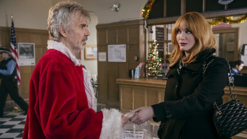 "Billy Bob Thornton and Christina Hendricks in ""Bad Santa 2."""