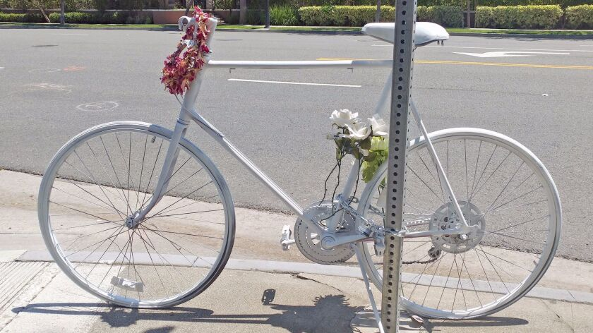 """Reader Doug Weiskopf writes about the importance of bike lanes and shares this photo of the """"Ghost"""
