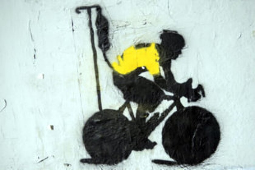 An example of the Lance Armstrong graffiti art.