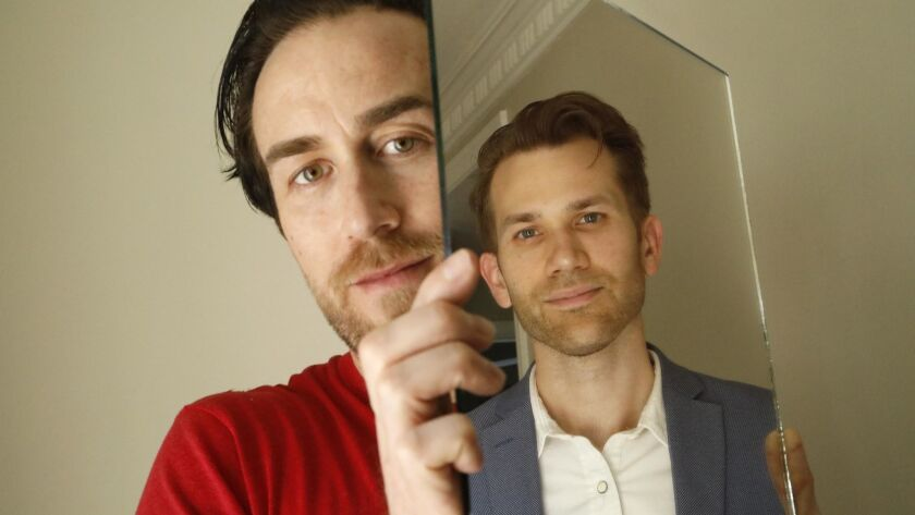 """Filmmakers Justin Benson, left, and Aaron Moorhead's latest collaborative effort is the movie, """"The Endless."""""""