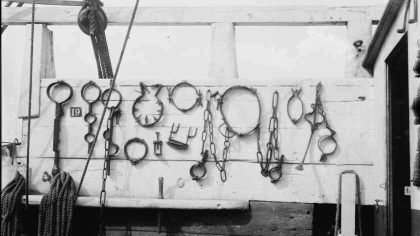 """Photo titled """"Torture irons on SUCCESS"""" [between ca. 1910 and ca. 1915]. Notes - Title from u"""