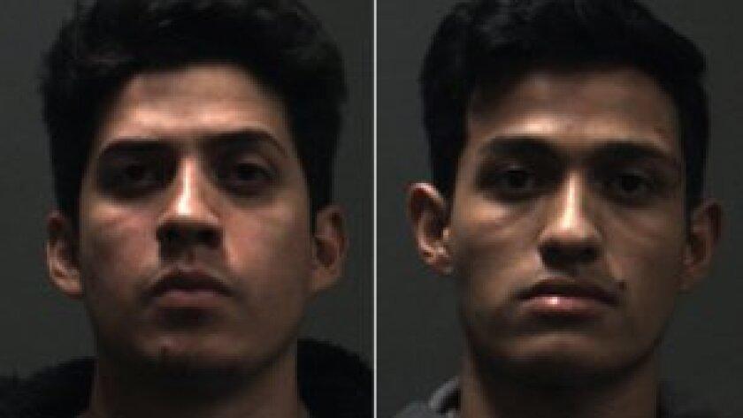 Rony Castaneda Ramirez, left, and Josue Castaneda Ramirez were arrested on suspicion of murder on Sunday, police say.
