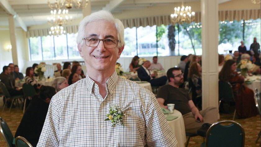 Retiring teacher Glen Jaffe at the Burbank Teachers Association's end of year reception at Pickwick