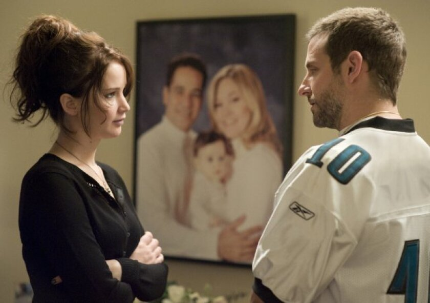 """Jennifer Lawrence and Bradley Cooper in """"Silver Linings Playbook"""""""