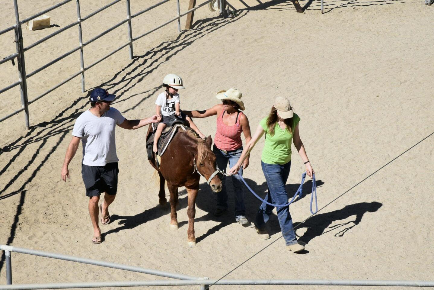 The very popular pony rides give many kids their first exposure to horses